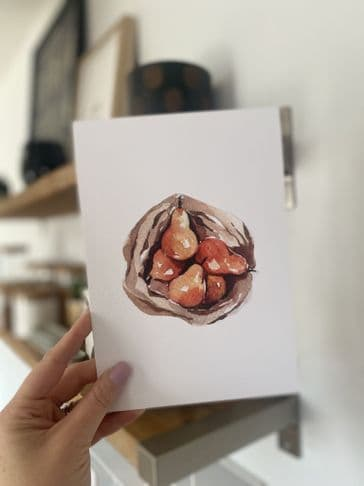 Pears (A5) TEXTURED CARD