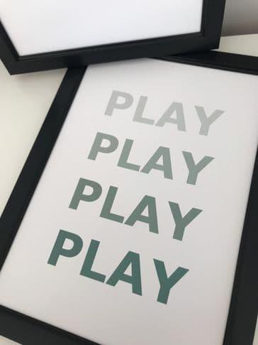 PLAY PLAY PLAY PLAY (GREEN A4)
