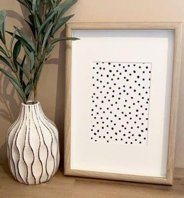 Polka dots monochrome (A3 & A5) - TEXTURED CARD