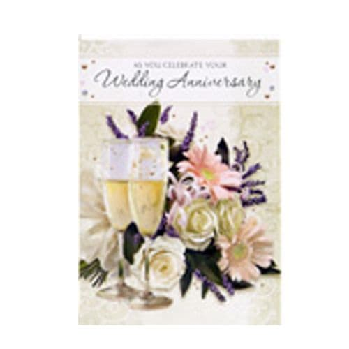 'As you celebrate your Wedding Anniversary' Card by Simon Elvin