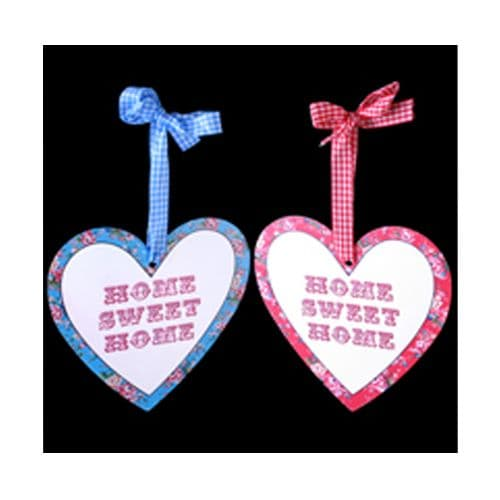 'Home Sweet Home' Hanging Floral Heart Signs