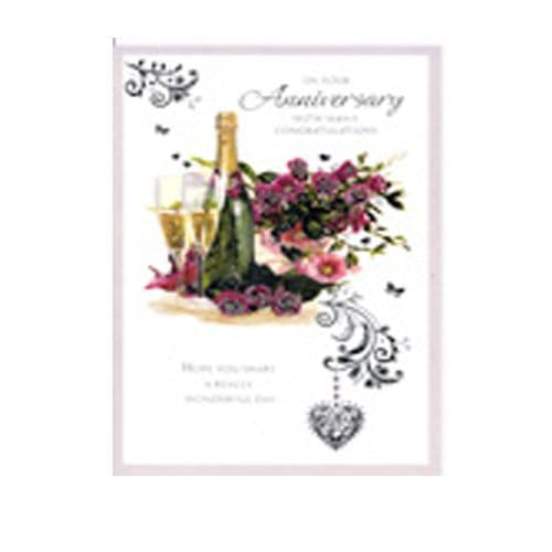 'On your Anniversary with many congratulations' card by Simon Elvin