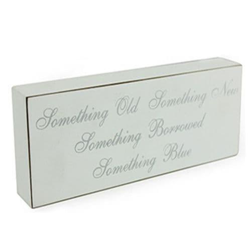 'Something Old, Something New, Something Borrowed, Something Blue' Wedding Plaque