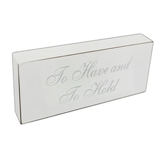 'To Have And To Hold' Silver Wedding Plaque
