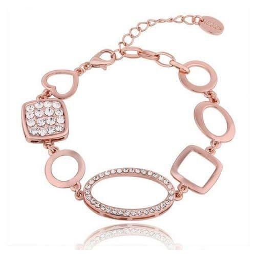 18k Rose Gold Plated Bracelet Designed in a collection of shapes
