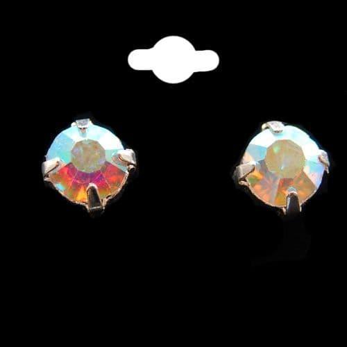 AB Crystal Stud Earrings