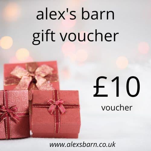 Alex's Barn £10 Gift Voucher
