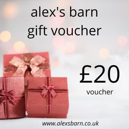 Alex's Barn £20 Gift Voucher