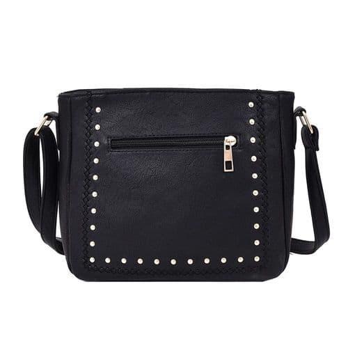 Aurora Stud Detail Crossbody Handbag In Black