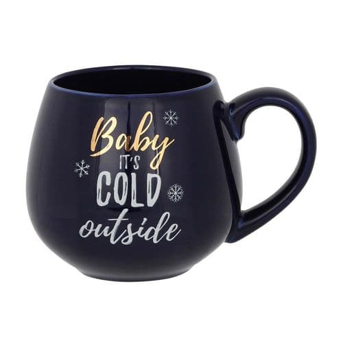 Baby It's Cold Outside Navy Mug