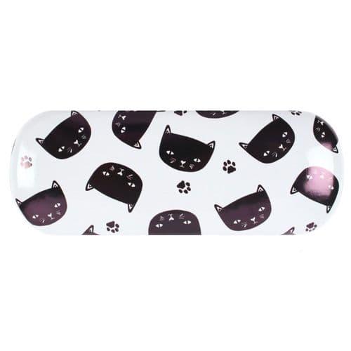 Black Cat Design Hardshell Glasses Cover
