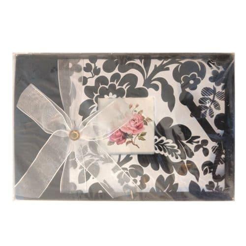 Black & White Floral Photo Album