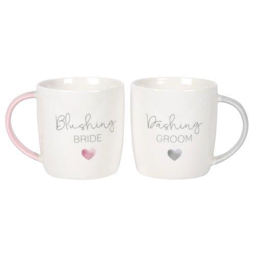 Blushing Bride and Dashing Groom Mug Set