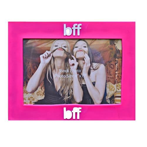 Bright Pink Best Friends Forever 'BFF' Text Photo Frame