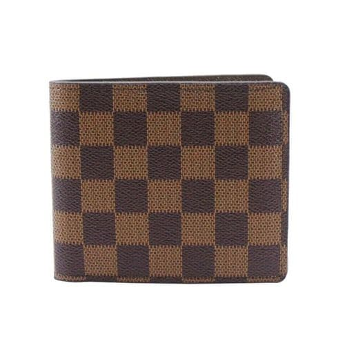 Brown Checkered Man's Wallet