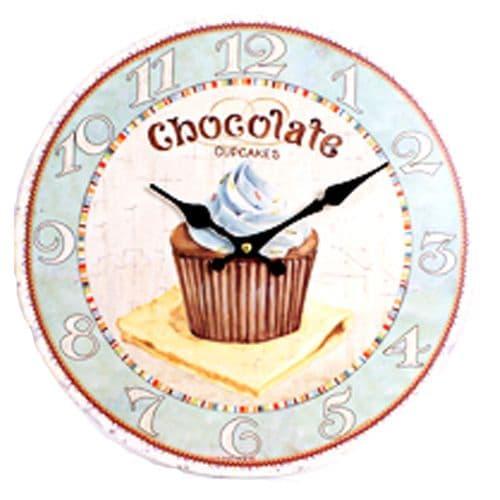 Chocolate Cupcake Design Wall Clock