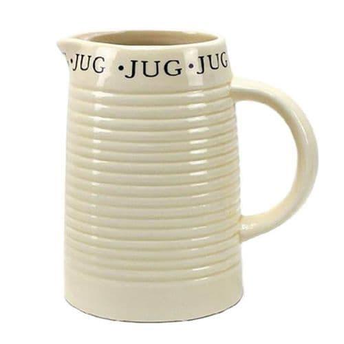 Classic Script Ceramic Jug