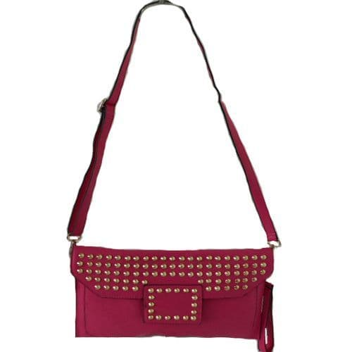 Clutch Style Handbag with Gold Studs