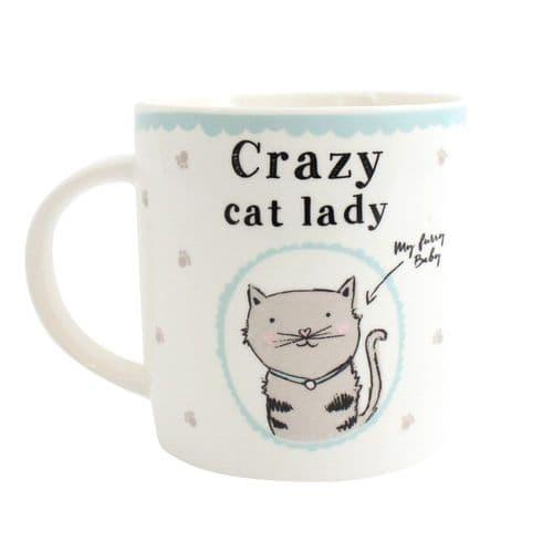 Crazy Cat Lady Design Fine China Mug