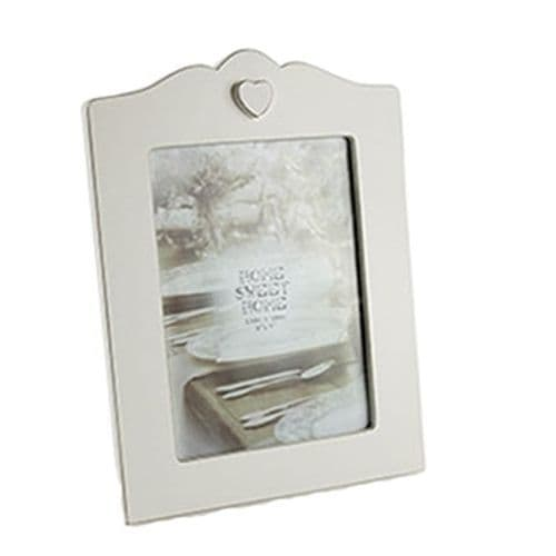 Cream Shabby Chic Wooden Photo Frame from the Home Sweet Home Range