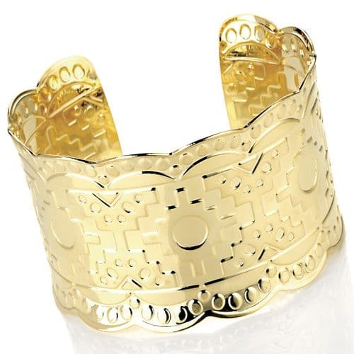 Cuff Bangle with a decorative design