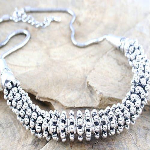 Designer Inspired Heavy Metal Link Necklace
