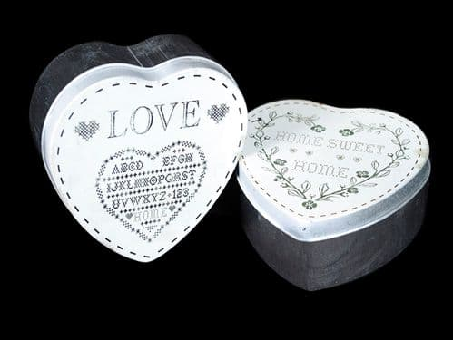 Eden Metal Heart Shaped Tin