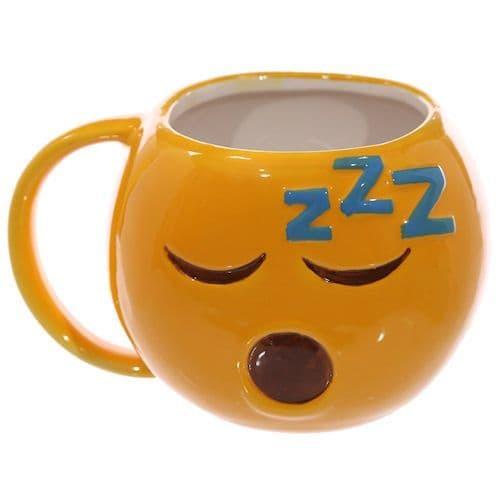 Emoji Sleeping Ceramic Yellow Mug