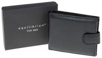Equilibrium Black Faux Leather Men's Wallet