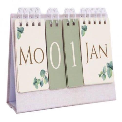Eucalyptus Flip Calendar