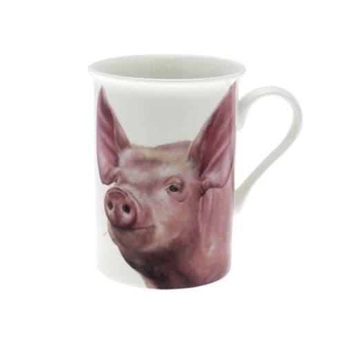Farmyard Pig Fine China Mug