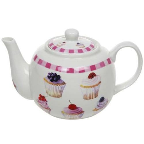 Fine China Cupcake Design Teapot