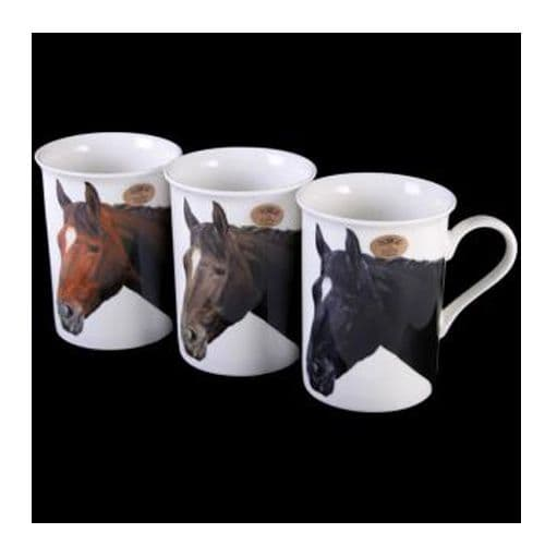 Fine China Mug, with images of Horse's