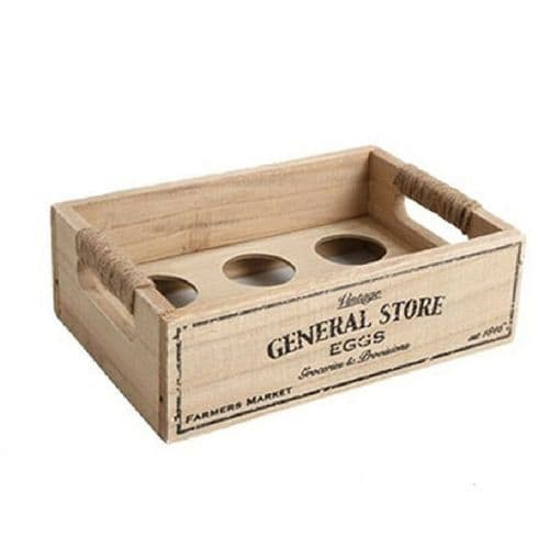 General Store Wooden Egg Crate