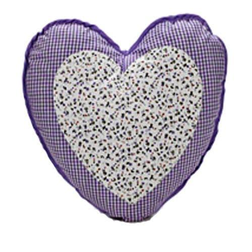 Gingham Fabric Heart Shaped Cushion