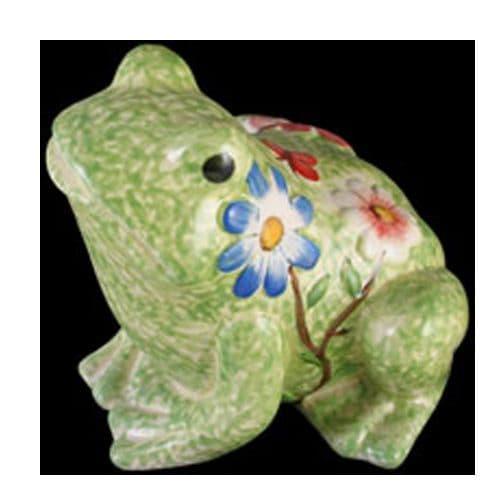 Green Ceramic Garden Frog