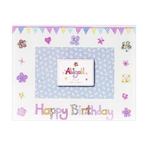 Happy Birthday Abigail Glass Photo Frame