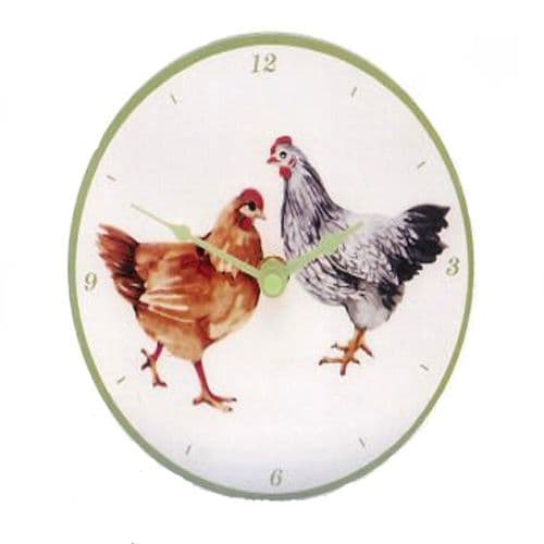 Happy Hens Design wall clock from The Leonardo Collection