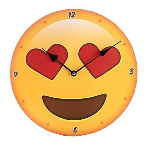 Heart Eyes Emoji Clock