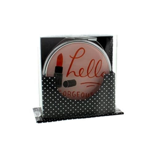 Hello Gorgeous Compact Mirror in a holder