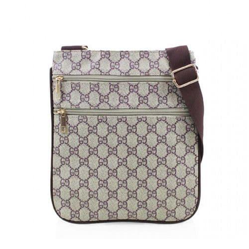 Khaki Pattern Designer Inspired Crossbody Bag