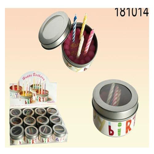 Little Happy Birthday Candlepot Tin