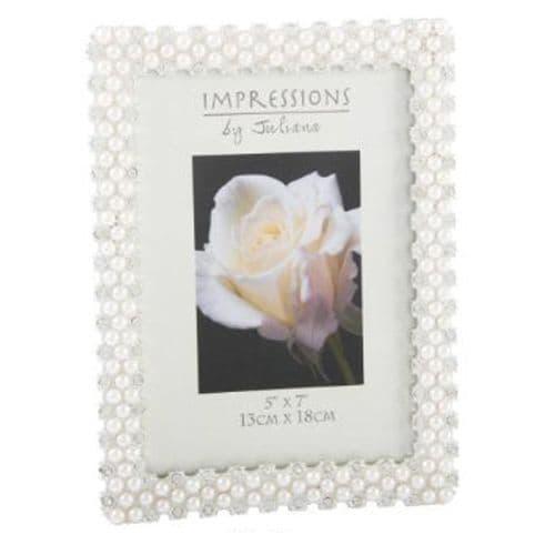 Modern Impressions Pearl & Crystal Photo Frame