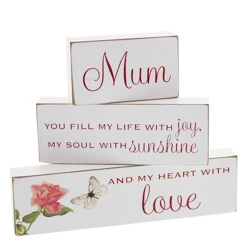 Mum Mantel Three Brick Plaque Set from The Juliana Collection