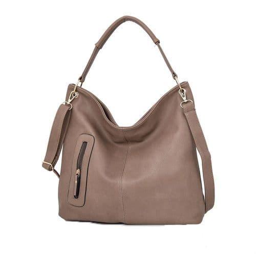 Nattie Side Zip Slouch Bag