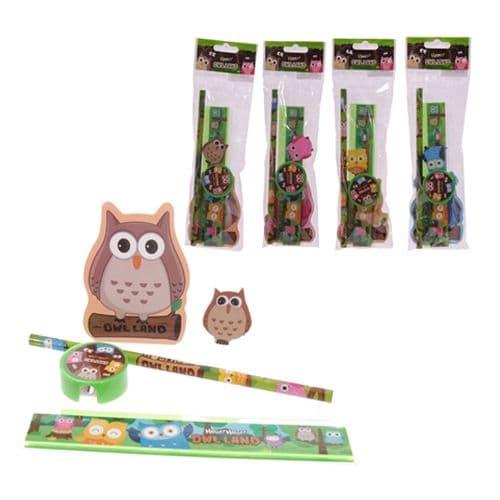 Owl Land Design Kids Stationery Set