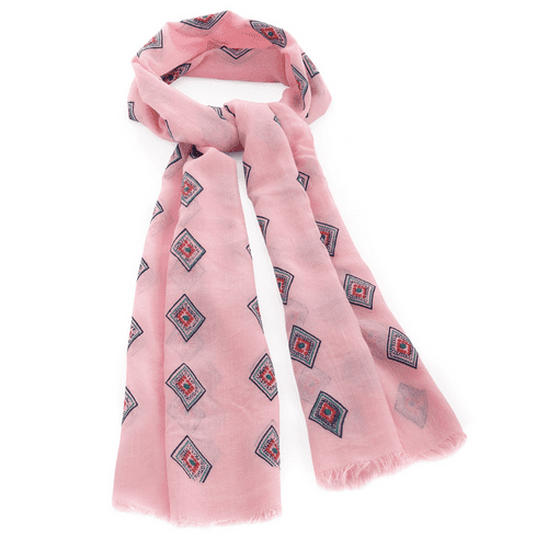 Pink Diamond Design Lightweight Scarf