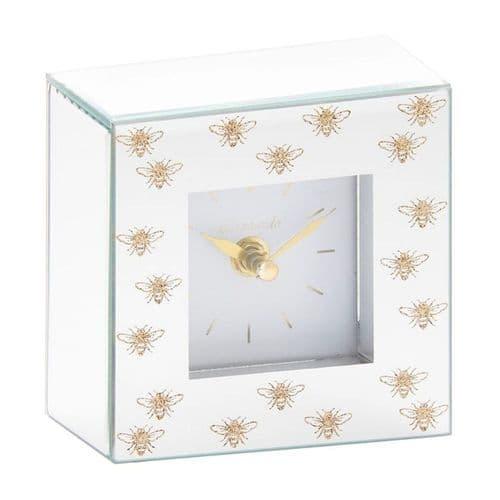 Queen Bee Mirrored Design Clock