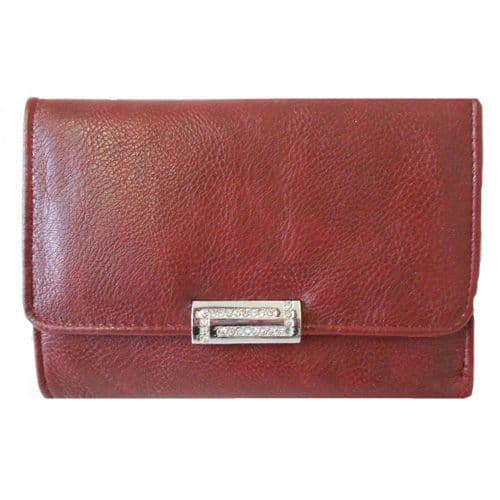 Red Purse with Crystal Lock Detail