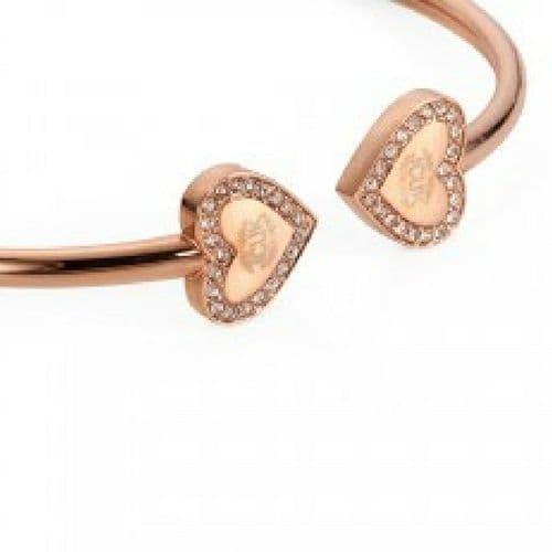 Rose Gold Open Heart Bangle